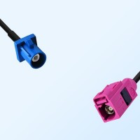Fakra H 4003 Violet Female - Fakra C 5005 Blue Male Cable Assemblies