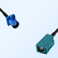 Fakra Z 5021 Water Blue Female Fakra C 5005 Blue Male Cable Assemblies