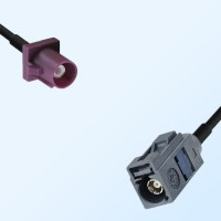 Fakra G 7031 Grey Female - Fakra D 4004 Bordeaux Male Cable Assemblies
