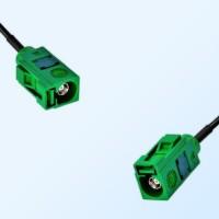 Fakra E 6002 Green Female - Fakra E 6002 Green Female Cable Assemblies