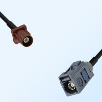 Fakra G 7031 Grey Female - Fakra F 8011 Brown Male Cable Assemblies