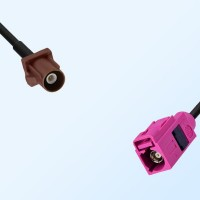 Fakra H 4003 Violet Female - Fakra F 8011 Brown Male Cable Assemblies