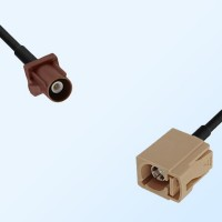 Fakra I 1001 Beige Female - Fakra F 8011 Brown Male Cable Assemblies