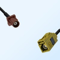 Fakra K 1027 Curry Female - Fakra F 8011 Brown Male Cable Assemblies