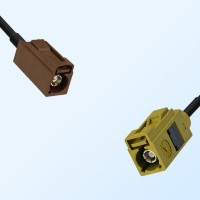 Fakra K 1027 Curry Female - Fakra F 8011 Brown Female Cable Assemblies