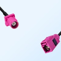 Fakra H 4003 Violet Female - Fakra H 4003 Violet Male Cable Assemblies