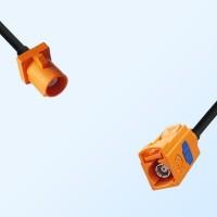 Fakra M 2003 Orange Male Fakra M 2003 Orange Female Cable