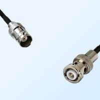 BNC Female - MHV Male Coaxial Jumper Cable