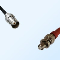 BNC Female - SHV Male Coaxial Jumper Cable