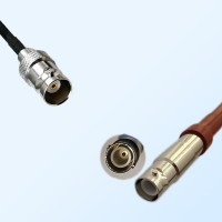 BNC Female - SHV Female Coaxial Jumper Cable