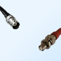 MHV Female - SHV Male Coaxial Jumper Cable