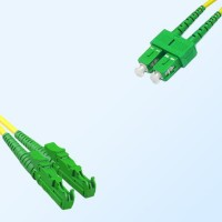 SC/APC E2000/APC Duplex Jumper Cable OS2 9/125 Singlemode