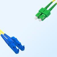 SC/APC E2000 Duplex Jumper Cable OS2 9/125 Singlemode