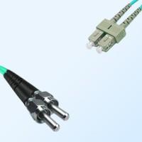 SC SMA905 Duplex Jumper Cable OM4 50/125 Multimode