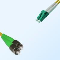 LC/APC FC/APC Duplex Jumper Cable OS2 9/125 Singlemode