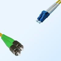 LC FC/APC Duplex Jumper Cable OS2 9/125 Singlemode