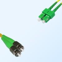 SC/APC FC/APC Duplex Jumper Cable OS2 9/125 Singlemode