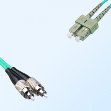 FC SC Duplex Jumper Cable OM4 50/125 Multimode