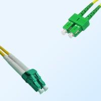 SC/APC LC/APC Duplex Jumper Cable OS2 9/125 Singlemode