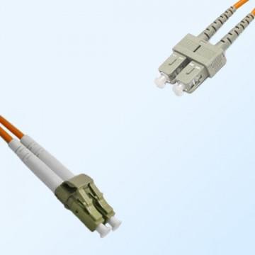 LC SC Duplex Jumper Cable OM2 50/125 Multimode