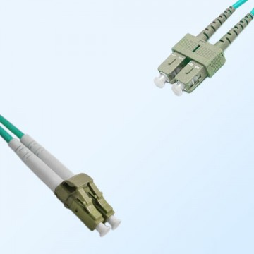 LC SC Duplex Jumper Cable OM4 50/125 Multimode