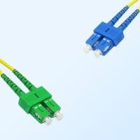 SC SC/APC Duplex Jumper Cable OS2 9/125 Singlemode