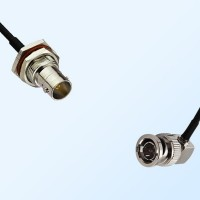 75Ohm BNC Bulkhead Female with O-Ring - BNC Male R/A Cable Assemblies