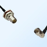 75Ohm BNC Bulkhead Female with O-Ring - F Male R/A Cable Assemblies