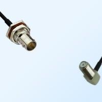75Ohm BNC Bulkhead Female with O-Ring - F Bulkhead Female R/A Cable
