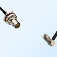 75Ohm BNC Bulkhead Female with O-Ring - 1.0/2.3 DIN Male R/A Cable