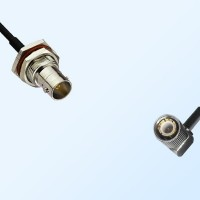 75Ohm BNC Bulkhead Female with O-Ring - 1.6/5.6 DIN Male R/A Cable