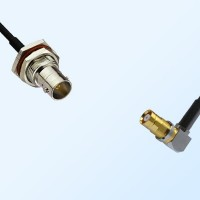 75Ohm BNC Bulkhead Female - 1.6/5.6 DIN Bulkhead Female R/A Cable