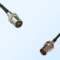 75Ohm DVB-T TV Male - BNC Front Mount O-Ring Bulkhead Female Cable