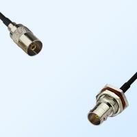 75Ohm DVB-T TV Female - BNC Bulkhead Female with O-Ring Cable