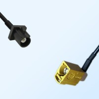 75Ohm Fakra A Male - Fakra K Female Right Angle Cable Assemblies