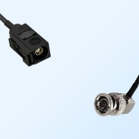 75Ohm Fakra A Female - BNC Male Right Angle Cable Assemblies