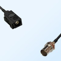 75Ohm Fakra A Female - BNC Front Mount O-Ring Bulkhead Female Cable