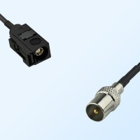75Ohm Fakra A Female - DVB-T TV Male Cable Assemblies