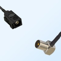75Ohm Fakra A Female - DVB-T TV Male Right Angle Cable Assemblies