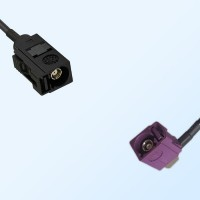 75Ohm Fakra A Female - Fakra D Female Right Angle Cable Assemblies