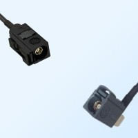 75Ohm Fakra A Female - Fakra G Female Right Angle Cable Assemblies
