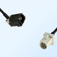 75Ohm Fakra A Female Right Angle - Fakra B Male Cable Assemblies