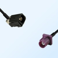 75Ohm Fakra A Female Right Angle - Fakra D Male Cable Assemblies