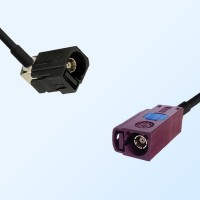 75Ohm Fakra A Female Right Angle - Fakra D Female Cable Assemblies