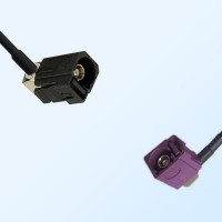 75Ohm Fakra A Female R/A - Fakra D Female R/A Cable Assemblies