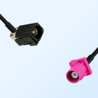 75Ohm Fakra A Female Right Angle - Fakra H Male Cable Assemblies