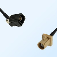 75Ohm Fakra A Female Right Angle - Fakra I Male Cable Assemblies