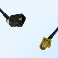 75Ohm Fakra A Female Right Angle - Fakra K Male Cable Assemblies