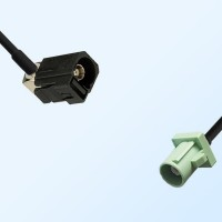 75Ohm Fakra A Female Right Angle - Fakra N Male Cable Assemblies