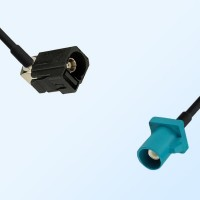 75Ohm Fakra A Female Right Angle - Fakra Z Male Cable Assemblies